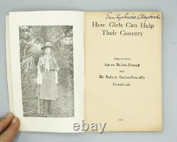 1917 Handbook For Girl Scouts How Girls Can Help Their Country Rare Vintage