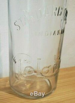 1922 POLARINE STANDARD OIL CO. Quart Bottle glass qt. Very rare quart! Can
