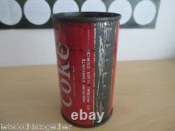 1960's Retro Coca-Cola British Vintage Diamond Metal Coke Can RARE