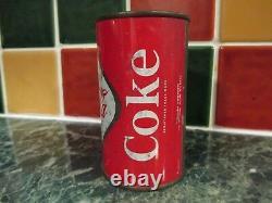 1960's Retro Coca-Cola British Vintage Diamond/Metal Coke Can with Top Intact RARE