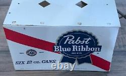 1960s pabst beer light up 6 pack flashing cans display back bar sign rare
