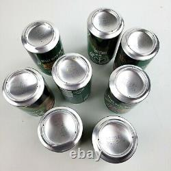 2010 Metal Gear Solid Rare Mountain Mtn Dew Japan Empty Can Set Bottom Opened