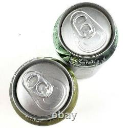 2011 Rare Call of Duty Gold Silver Mountain Mtn Dew Empty Can Set Bottom Opened