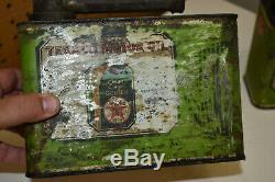2 1920s Texaco Handy Grip Oil Cans Rare 1/2 Gallon Cans