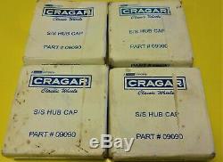4 NOS Cragar Center Caps Wheel Chevy Camaro Chevelle Nova Pontiac GTO 9090