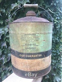 5 Gallon Vintage Terrys Senator Oil Can Rare Size