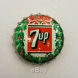7up Christmas Wreath cork lined bottle cap SUPER RARE! 7 up Can't find another