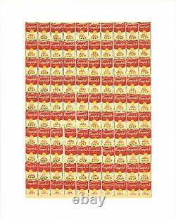Andy Warhol'100 Cans' 1991 Rare Original Silkscreen Pop Art Poster Print
