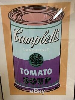 Andy Warhol Estate Rare 1989 1st Ed Litho Print Framed Poster Soup Can 1965