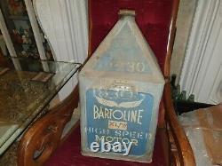 BARTOLINE HIGH SPEED Motor Oil VERY Rare Pyramid Can Petroliana Automobilia 5GAL