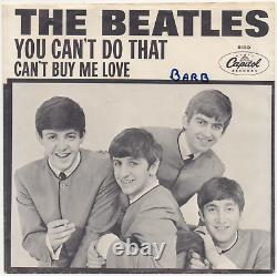 BEATLES Can't Buy Me Love VERY RARE ORIG 7 CAPITOL 5150 45 with PICTURE SLEEVE PS