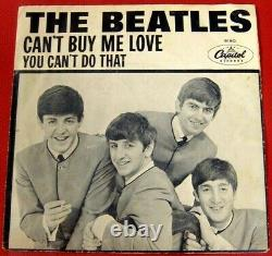 Beatles CAN'T BUY ME LOVE 1964, Ultra Rare Original Picture Sleeve! STRONG VG+