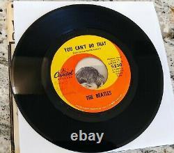 Beatles Can't Buy Me Love Original 1964 Sleeve & 1964 Single 45 Capitol Rare
