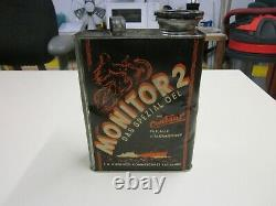 Bidon huile MONITOR 2 Centaur Rare öldose Oelkanne Can Motorcycle Oldtimer