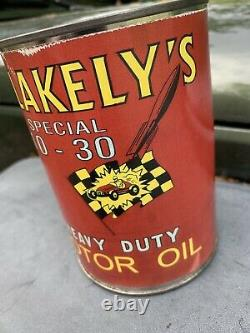 Blakelys Special Motor Oil Can Rare Oil Can