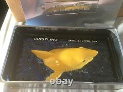 Breitling basel world collectable shark paperweight very rare with tin can