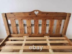 CAN DELIVER VERY RARE SOLID FARMHOUSE PINE 6ft SUPER KING SIZE BED FRAME VGC