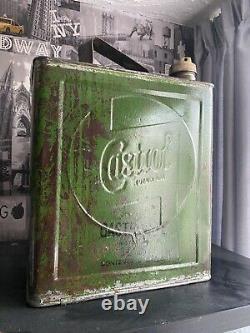 Castrol Petrol Can Oil Can 2 Gallon Rare