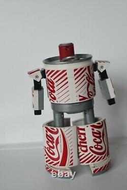Cherry Coke Coca Cola Robot Transformer 1980's Rare Collectable Can