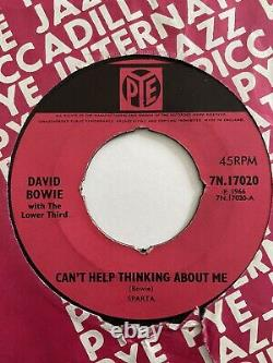 David Bowie With The Lower Third Cant Help Thinking About Me 7 Rare Original
