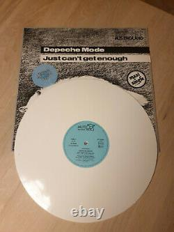 Depeche Mode Just Can't Get Enough, White Colored rare Vinyl 12 maxi record