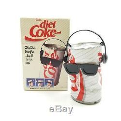 Diet Coca Cola Dancing Coke Can RARE Vintage Takara 80s Headphones Glasses Box