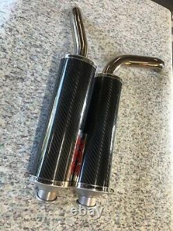 Ducati 916 996 998 748 ART Slip On Exhaust System Carbon End Can 55mm Rare
