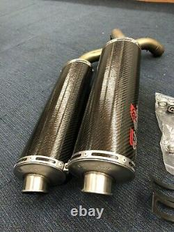 Ducati 916 996 998 Silmotor Slip On Exhaust System Carbon Oval End Can 45mm Rare
