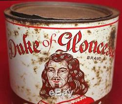 Duke of Gloucester Oyster Tin Can Gallon Bena VA Vintage RARE