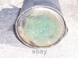 Early Glass Mascot Kerosene Fuel Oil Lamp Filler Can Lantern Bottle Can Gas Rare