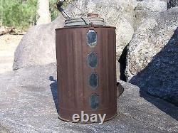 Early Glass Queen Kerosene Fuel Oil Lamp Filler Can Lantern Bottle Can Gas Rare