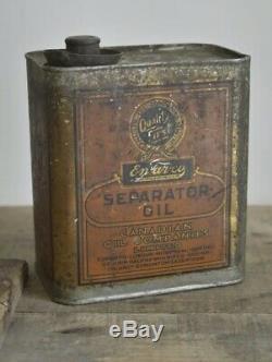 Early Rare EN-AN-CO Cream Separator Oil Can Tin Quart Canadian Oil Companies
