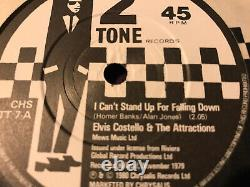 Elvis Costello I Cant Stand Up For Falling Down Rare Withdrawn Two Tone Single