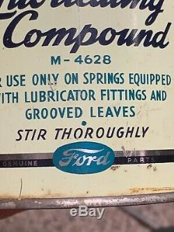 Ford Oil Can Rare Lubricating Compound Henry Rare Advertising Sign