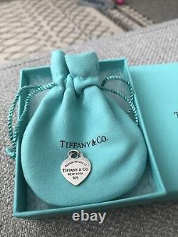 Genuine Tiffany Heart Charm Rare (Can Be Used As Pendent For Necklace)