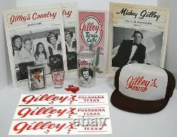 Gilley's Pasadena, Texas RARE Vintage Collection Lot Hat Stickers Beer Can +