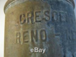 Hyper Rare! Nice Vintage Crescent Dairy Reno Nevada Nv Milk Cream Can