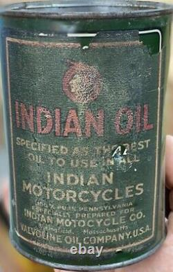 Indian Motorcycle Oil Can Quart RARE