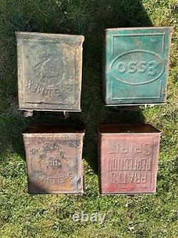 Joblot Collection Of Vintage Petrol/Fuel Cans Some rare