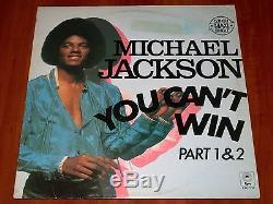 Michael Jackson You Can't Win Part 1&2 Rare 12 Maxi Vinyl Epic 1979 Holland