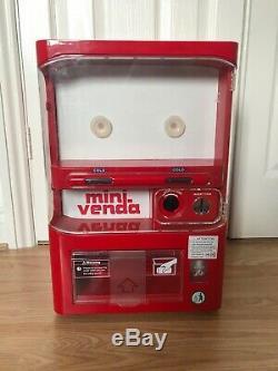 Mini Venda Coin Operated Vending Fridge Can Cooler Dispenser Koolatron RARE UK