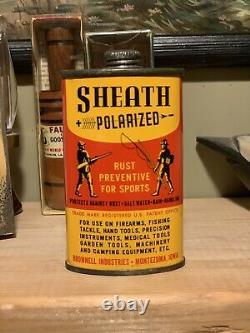 Minty Vintage Sheath Lead Top Gun Oiler Rare Graphic Can