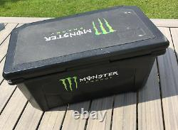 Monster Energy Grizzly 75 Quart Cooler Holds 84 Cans Rare