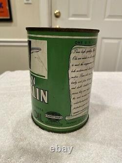 Motor Oil Can Penn Franklin Pennant Oil & Grease Company RARE