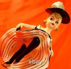 OOH LA LA! Cute French Girl Can Can Dancer Figurine TMJ Napco Norcrest So Rare