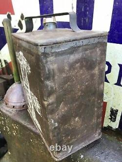 Old Two Gallon Motor Shell Mex Spirit Petrol Can Advertising BP Esso Rare Pratts