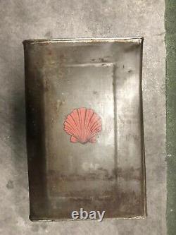 Original SHELL Motor Oil Can Drum 1920s Vintage Mint RARE 5 Gallons Big Pre-war