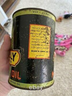 Polly Gas Motor Oil Quart Can Original Rare Gasoline