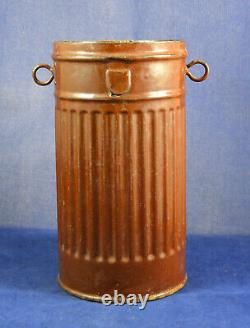 Post war made container for soup made from a German WW2 gas mask can Very Rare