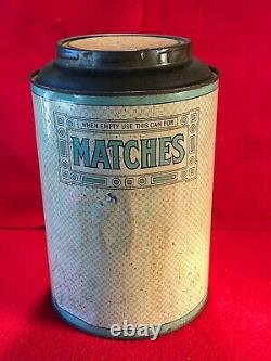 Q1 RARE Oliver Finnie Southern Comfort Coffee Tin Can Memphis TN Matches Sign